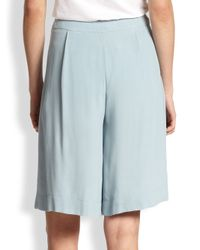See By Chloé Blue Pleated Midi Split Skirt
