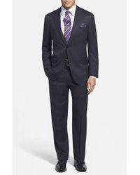 Corneliani - Blue Trim Fit Wool Suit for Men - Lyst