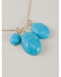 Aurelie Bidermann   Blue 'scarab' Necklace   Lyst