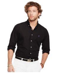 Polo Ralph Lauren - Black Poplin Shirt for Men - Lyst