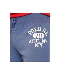 Polo Ralph Lauren - Blue Fleece Shorts for Men - Lyst