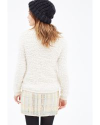 Forever 21 | Natural Fuzzy Popcorn Knit Jacket | Lyst