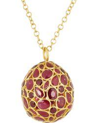 Pippa Small - Metallic 18karat Gold Ruby Necklace - Lyst