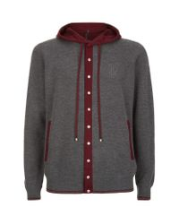 Stefano Ricci - Gray Cashmere-silk Hooded Sweatshirt for Men - Lyst