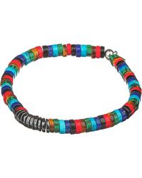 Tateossian | Blue Bamboo Bead Disc Bracelet - For Men | Lyst