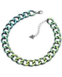 Guess - Multicolor Metallic Chain Necklace - Lyst
