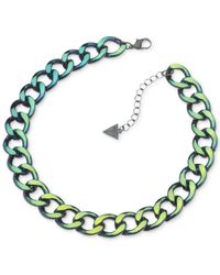 Guess | Multicolor Metallic Chain Necklace | Lyst