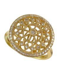 Effy - Metallic Doro 14kt. Yellow Gold And Diamond Ring - Lyst