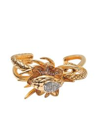 Roberto Cavalli | Metallic Serpent Et Scorpion Bracelet | Lyst