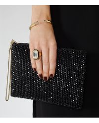 Reiss - Metallic Athena Ring With Crystals From Swarovski - Lyst
