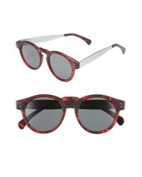 Komono | Red 'clement' 48mm Retro Sunglasses for Men | Lyst