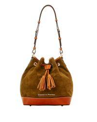 Dooney & Bourke | Green Suede Drawstring Bucket Bag | Lyst