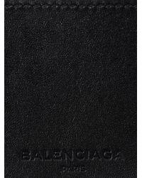 Balenciaga - Black Hologram Striped Card Holder for Men - Lyst