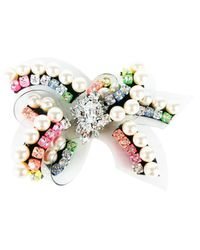 Shourouk | Multicolor Rainbow Bow Brooch | Lyst