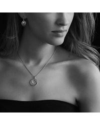 David Yurman - Metallic Pearl Earrings With Diamonds In Gold - Lyst