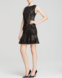 Nicole Miller Artelier - Black Dress - Flounce Hem Shift - Lyst