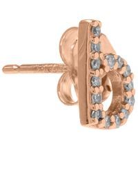 KC Designs - Pink Rose Gold Diamond B Single Stud Earring - Lyst