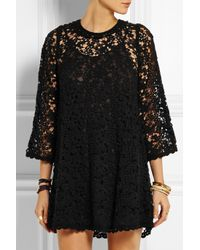 Étoile Isabel Marant - Black Dahlia Cotton-blend Guipure Lace Mini Dress - Lyst