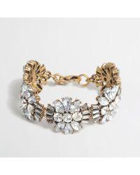 J.Crew - Metallic Factory Crystals Bracelet - Lyst