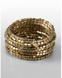 ABS By Allen Schwartz | Metallic Wide Multichain Fringe Bracelet | Lyst