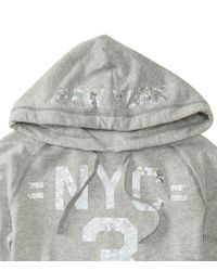 Aéropostale | Gray Nyc 3 Cropped Pullover Hoodie | Lyst