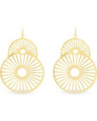 Ashiana - Metallic Goldplated Star Earrings Gold - Lyst