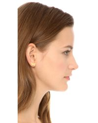 Marc By Marc Jacobs - Metallic Wildflower Stud Earrings - Oro - Lyst