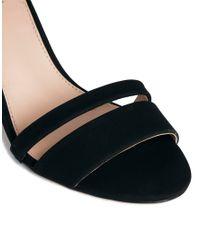 Carvela Kurt Geiger | Black Carly Barely There Heeled Sandal | Lyst