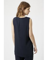 TOPSHOP - Blue Tab Side Tunic - Lyst