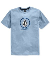 Volcom - Blue New Circle T-shirt for Men - Lyst
