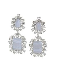 BCBGMAXAZRIA | Blue Scatteredstone Drop Earrings | Lyst