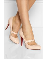 Christian Louboutin - Pink Charleen 100 Patent-Leather Mary Jane Pumps - Lyst