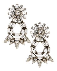 DANNIJO - Metallic Grace Crystal Statement Earrings - Lyst