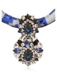 Shourouk - Blue Zulu Necklace - Lyst