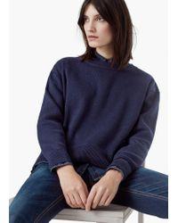 Mango | Blue Essential Cotton-blend Sweater | Lyst