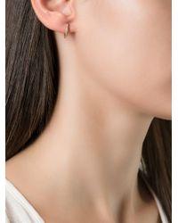 Wouters & Hendrix - Pink Single Diamond Hoop Earring - Lyst