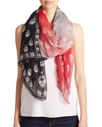 Alexander McQueen | Multi-colored Silk Skull Shawl | Lyst
