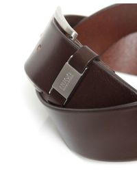 BOSS - Brown Connio Leather Belt for Men - Lyst