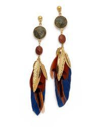 Gas Bijoux | Serti Plume Earrings - Blue Multi | Lyst