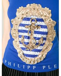 Philipp Plein - Blue 'summer Time' Tank Top - Lyst