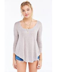 Silence + Noise | Gray Brandi Scoop-neck Tee | Lyst