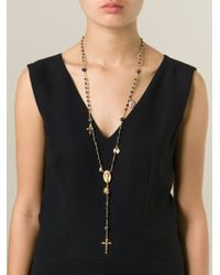 Dolce & Gabbana - Metallic Prayer Bead Necklace - Lyst