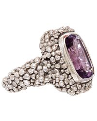 Stephen Dweck | Purple Silver Beaded Amethyst Ring | Lyst