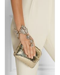 Erickson Beamon - Metallic Hung Up Gold-Plated Swarovski Crystal Finger Bracelet - Lyst