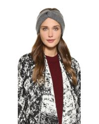 Rag & Bone | Gray Alexis Headband - Black | Lyst