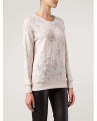 IRO - Pink Distressed Sweatshirt - Lyst