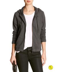 Banana Republic | Gray Factory Hooded Jacket | Lyst