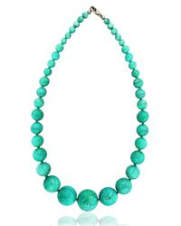 Lord & Taylor | Blue Beaded Necklace | Lyst