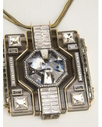 Lanvin - Metallic 'marie Laure' Necklace - Lyst