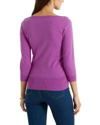 Oasis - Pink The Textured Knit - Lyst